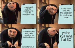 Bank memes customer care